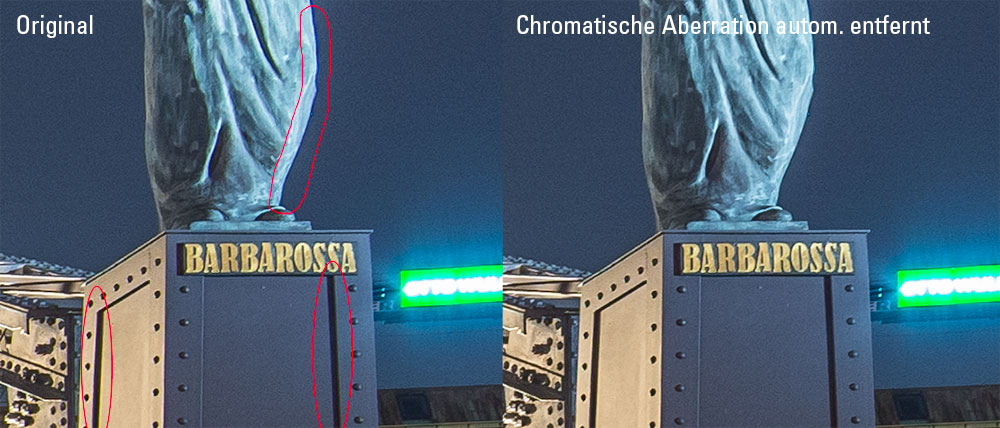 Geringe chromatische Aberration beim Walimex 14 mm f/2.8