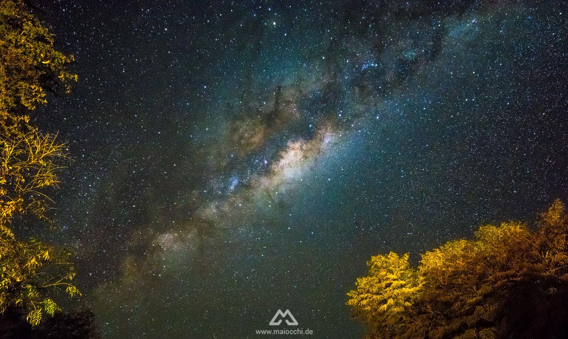 Aufnahme der Milchstraße mit dem Walimex 14 mm