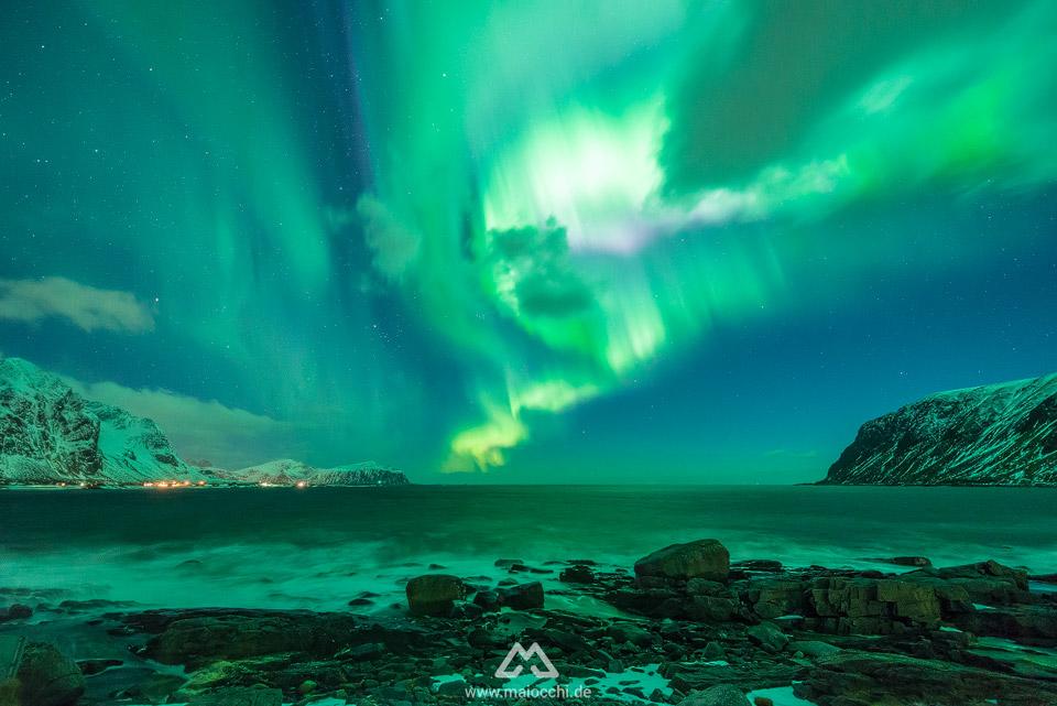 Polarlicht, Aurora Borealis auf den Lofoten